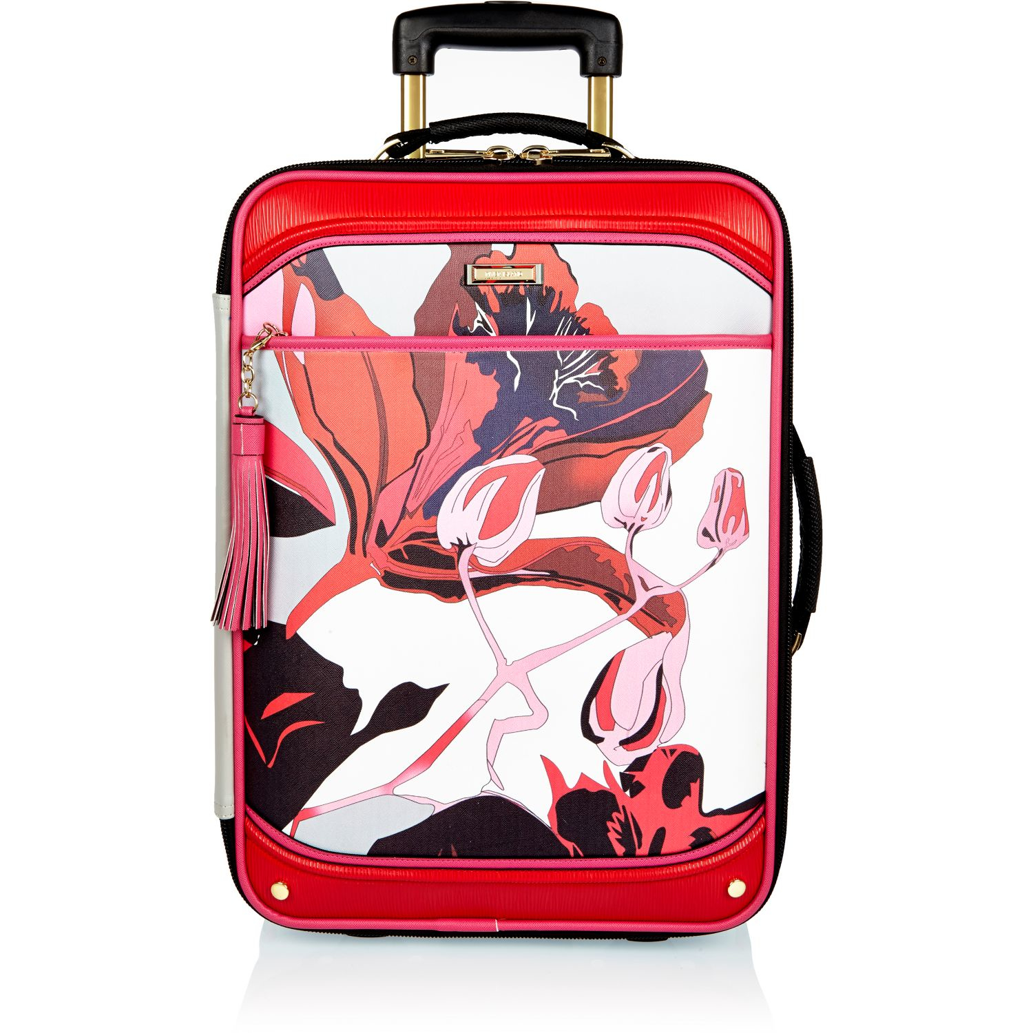 f70d8cc639 River Island Red Floral Print Vanity Case Red Floral Print Suitcase ...