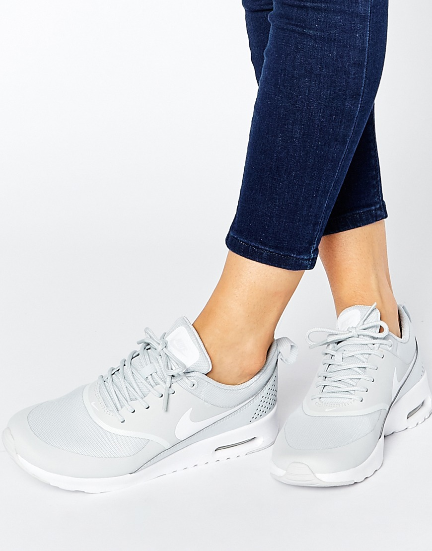 Nike Air Max Thea White Platinum Trainers In White Lyst