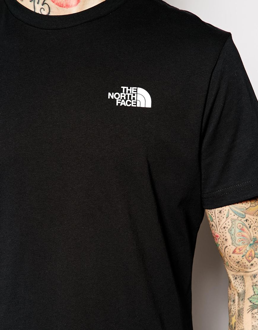 Lyst - The North Face T-Shirt With Red Box Logo in Black for Men 94c1d10df