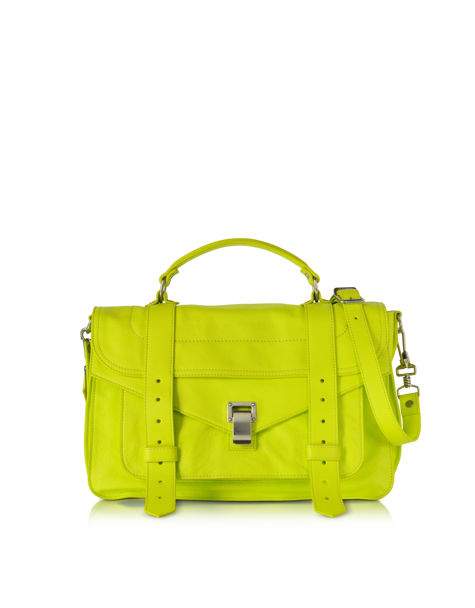 Proenza schouler Ps1 Medium Sulphur Lux Leather Satchel Bag in ...
