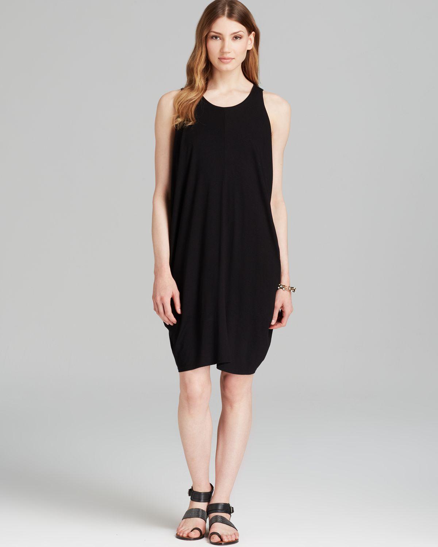 07c0eebe78ce91 Lyst - Eileen Fisher Sleeveless Wide Neck Wedge Dress in Black