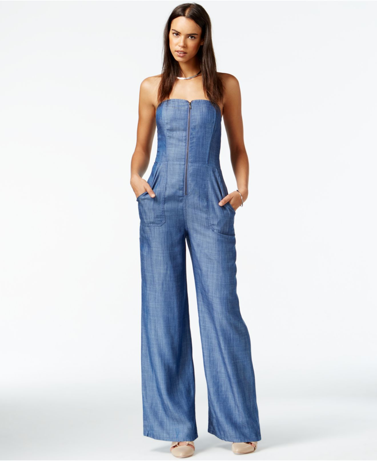 1e304fab64e8 Gallery. Previously sold at  Macy s · Women s Denim Jumpsuits ...