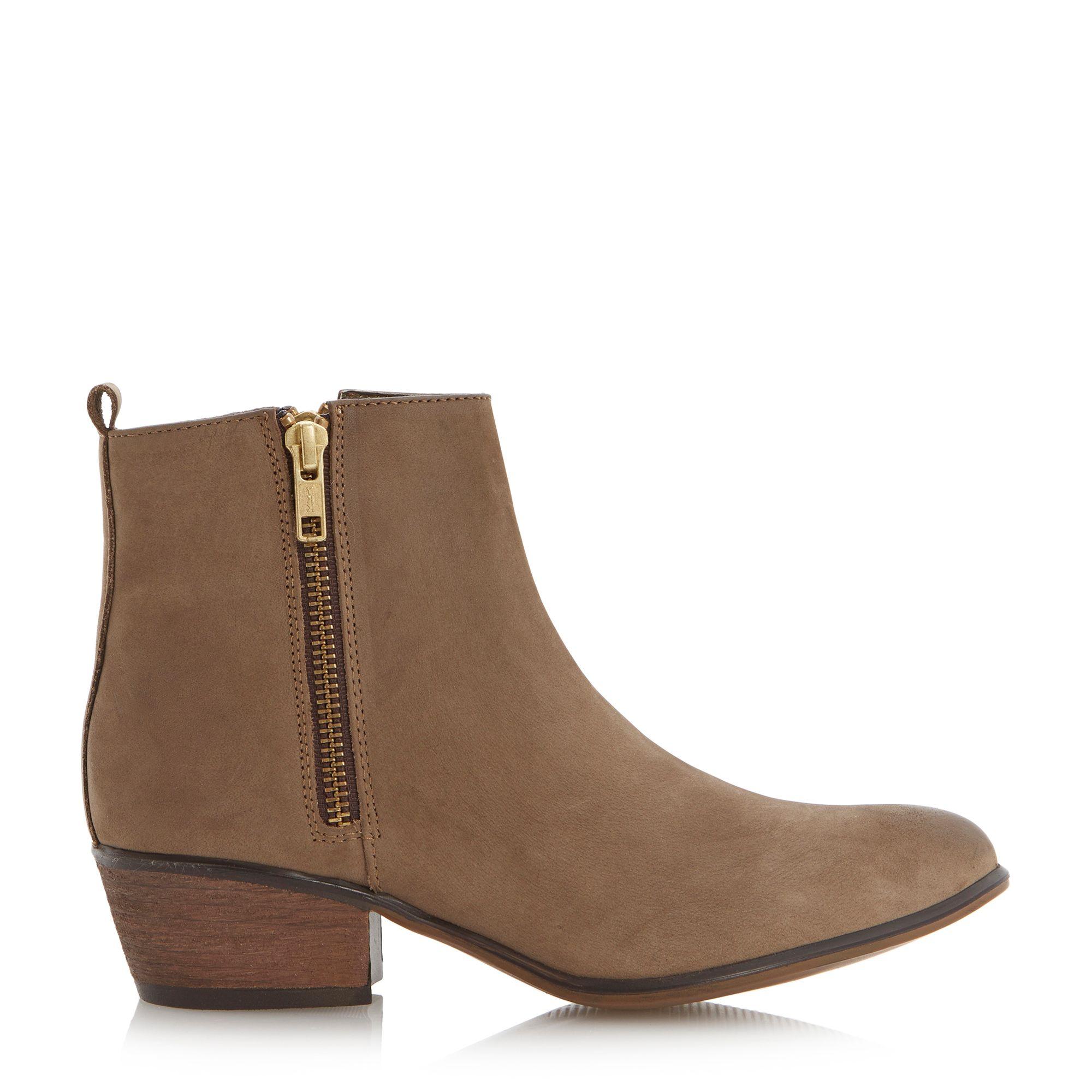 steve madden neovista zip detail ankle boots in brown lyst