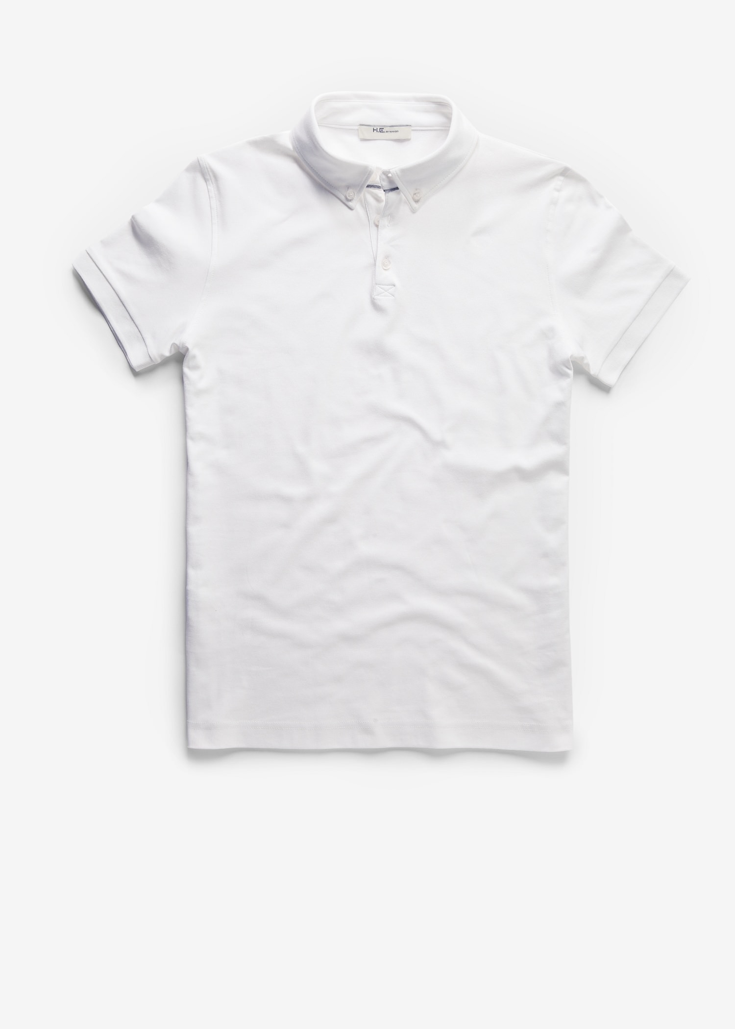 Lyst Mango Button Down Collar Polo Shirt In White For Men