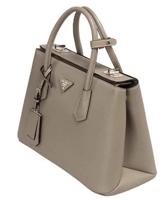 d939d83474d where to buy lyst prada bn2823 bag f0572 argilla clay grey saffiano cuir  a73bd 7aaf0