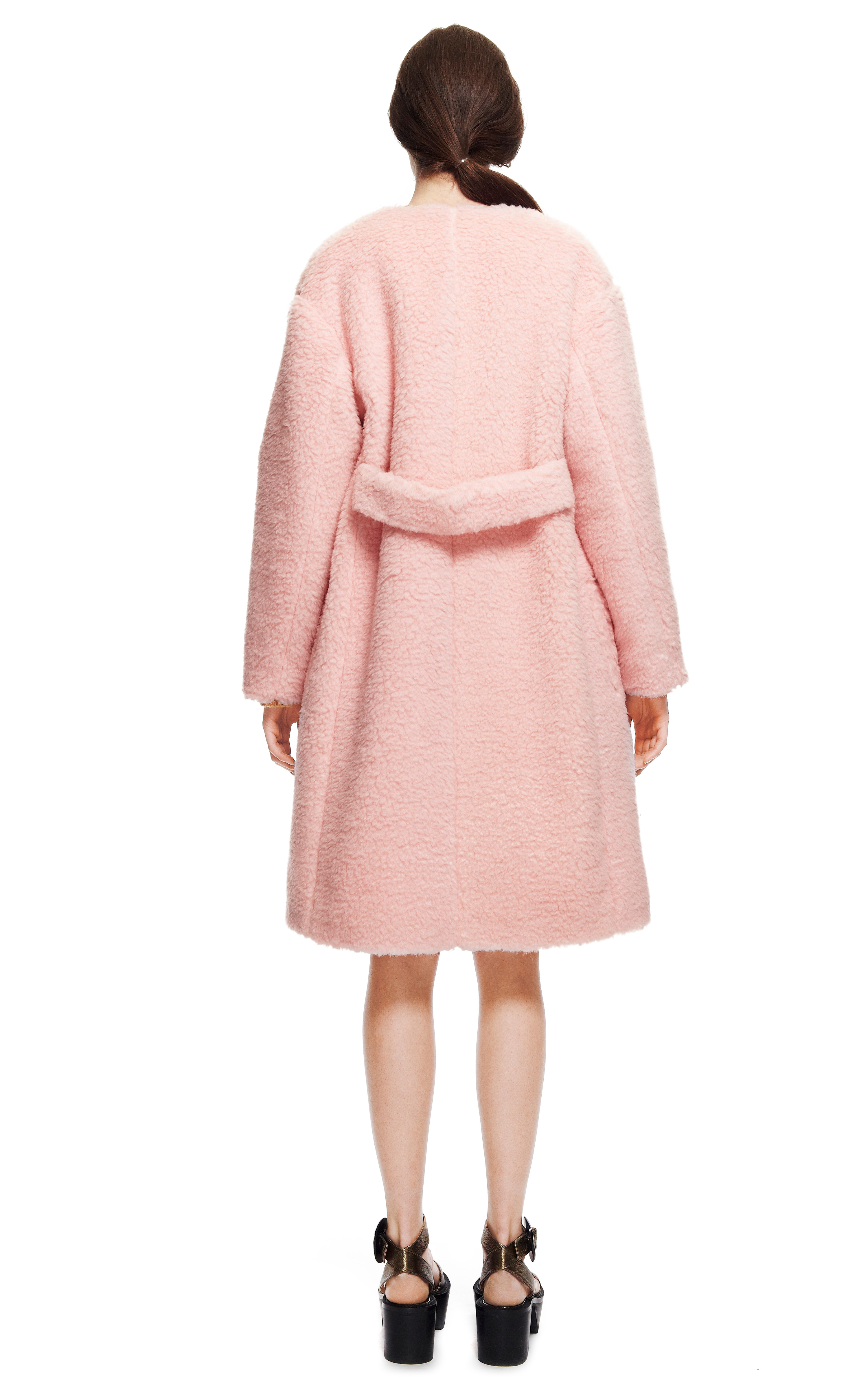 Rochas Peluche Powder Pink Coat in Pink   Lyst