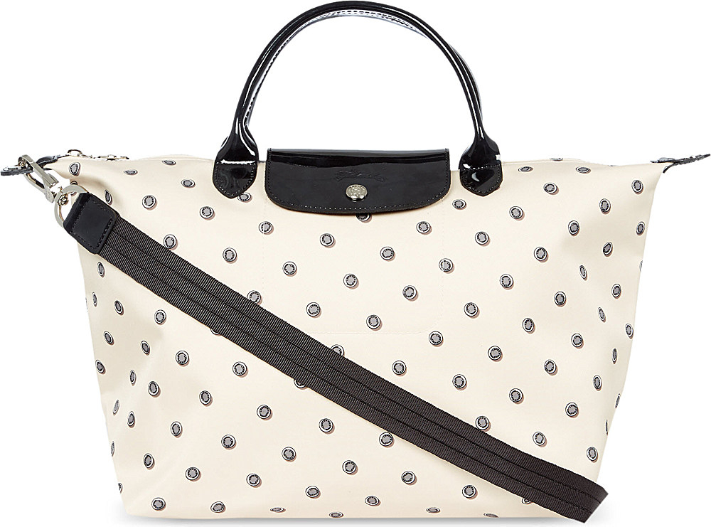 20e84e798e79 Longchamp Le Pliage Neo Fantasie Medium Shoulder Bag Beige in ...