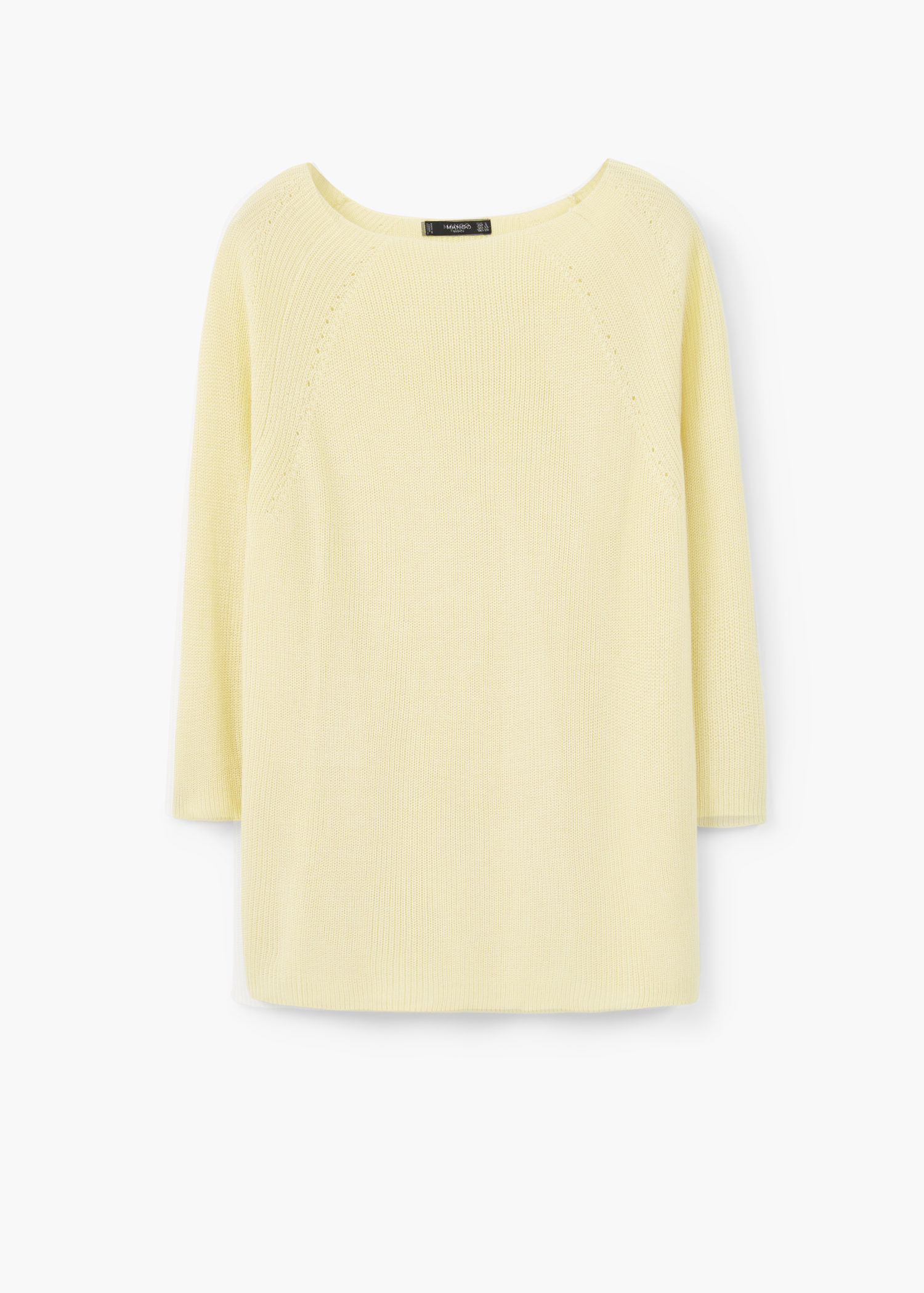 Mango Ribbed Sweater in Yellow | Lyst
