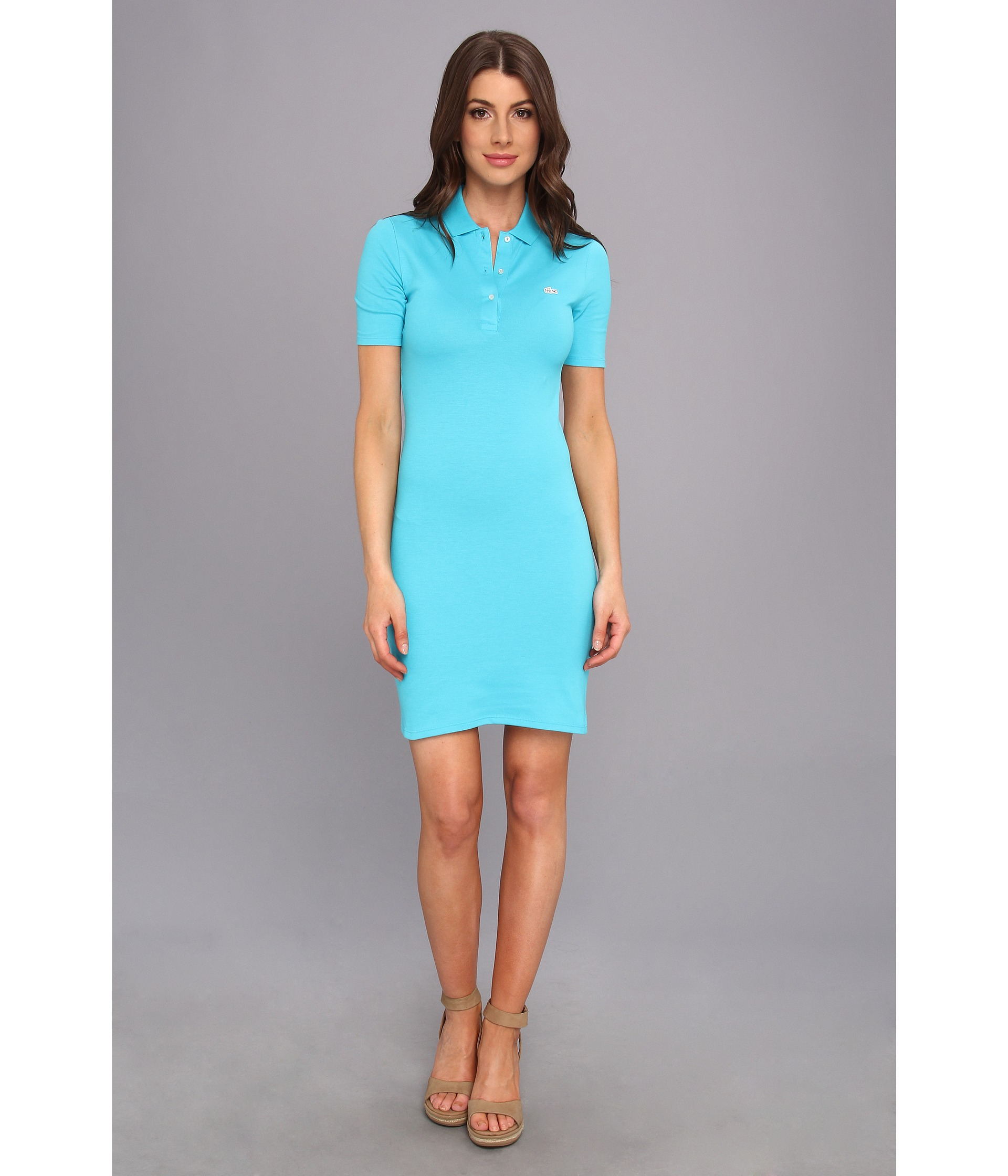 Teal Polo Dress