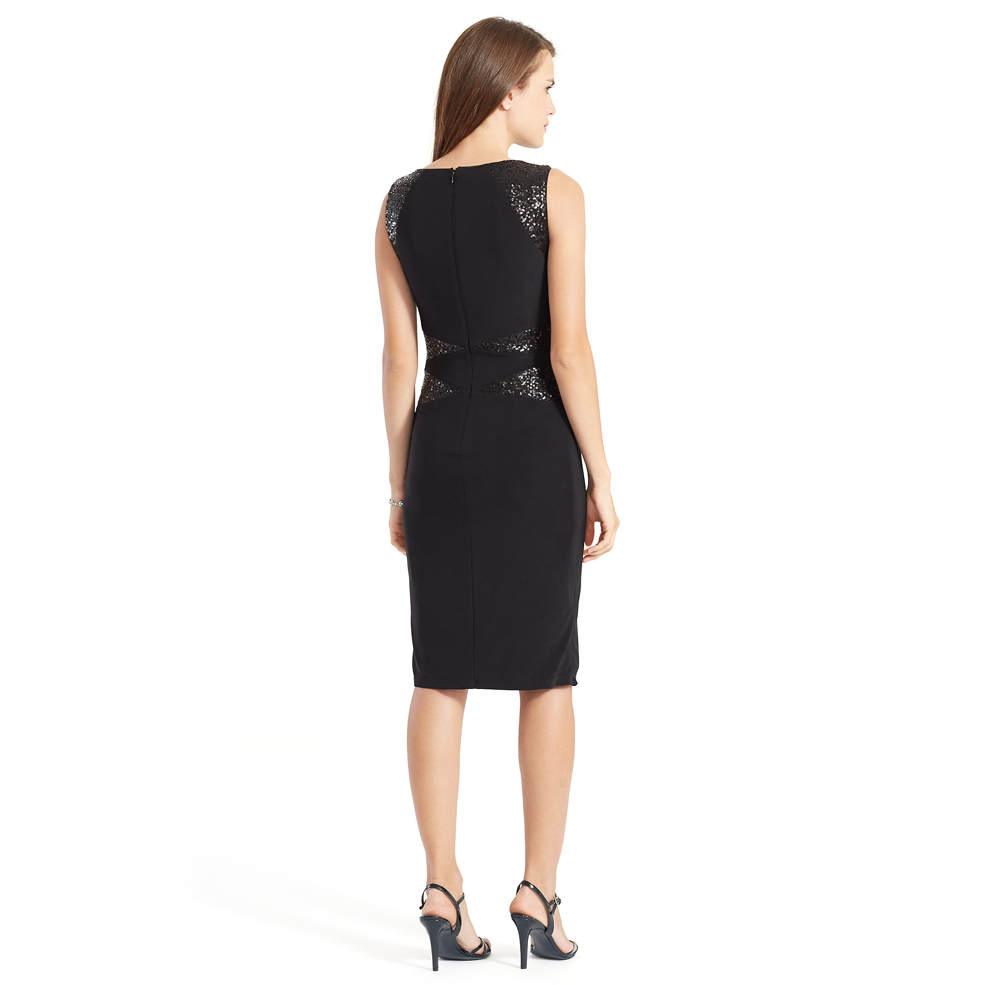 Lauren Ralph Lauren Väskor : Lyst ralph lauren sequin paneled jersey dress in black