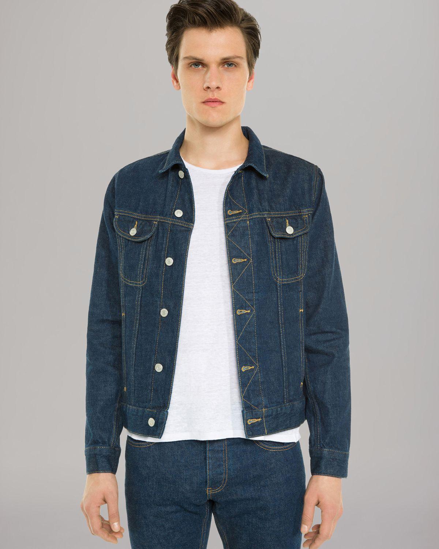 ec112a0d717 Lyst - Sandro Phoenix Denim Jacket in Blue for Men