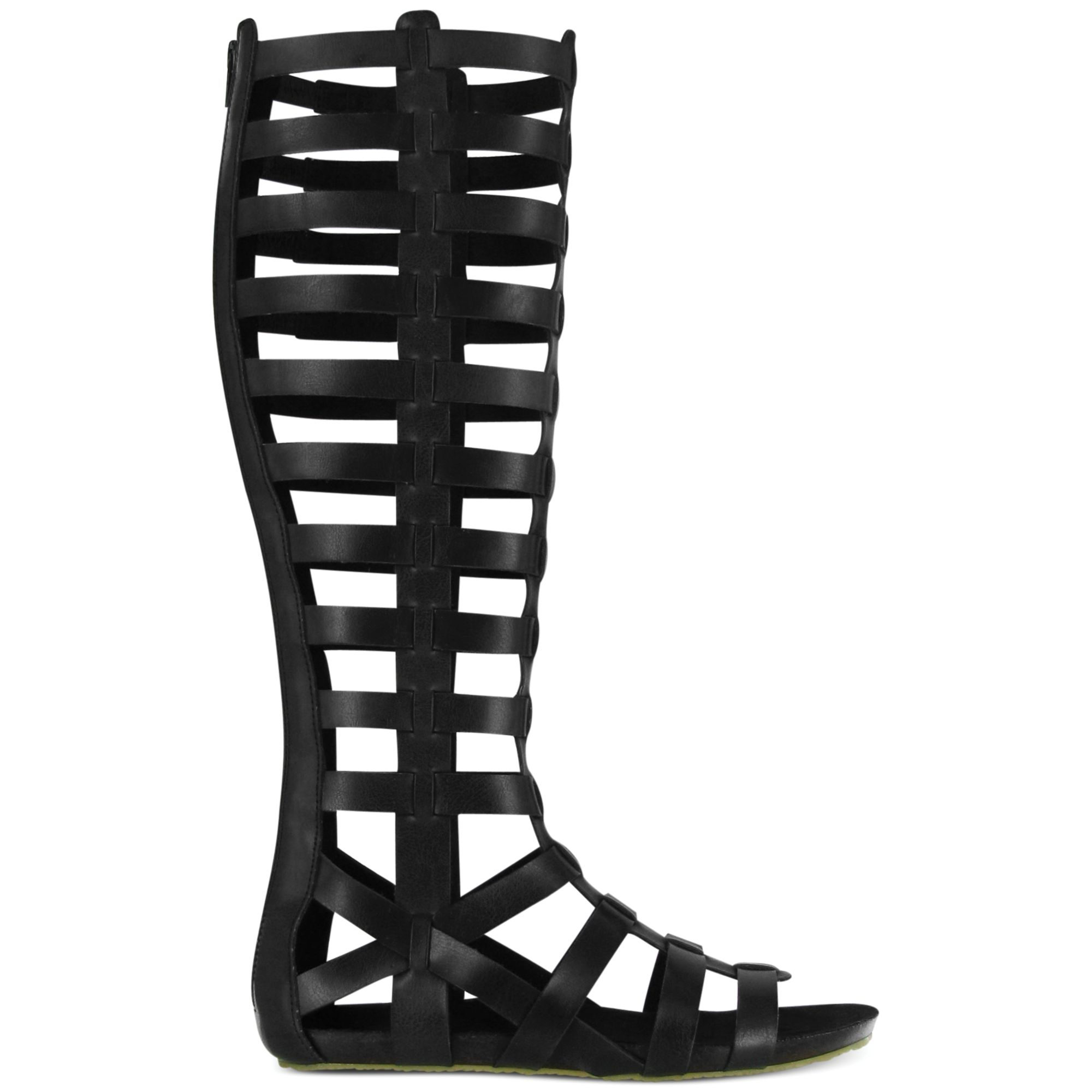 a3fc716773a Lyst - MIA Glitterati Tall Gladiator Sandals in Black