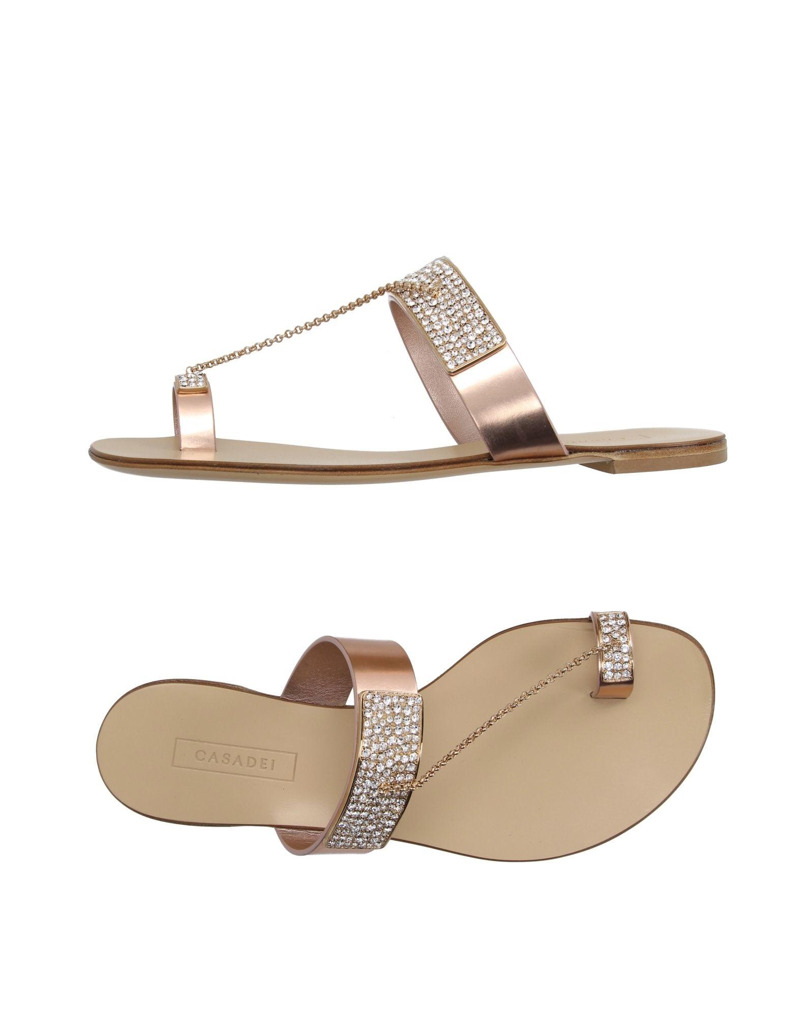 adff8fcfad1 Casadei Thong Sandal in Metallic - Lyst