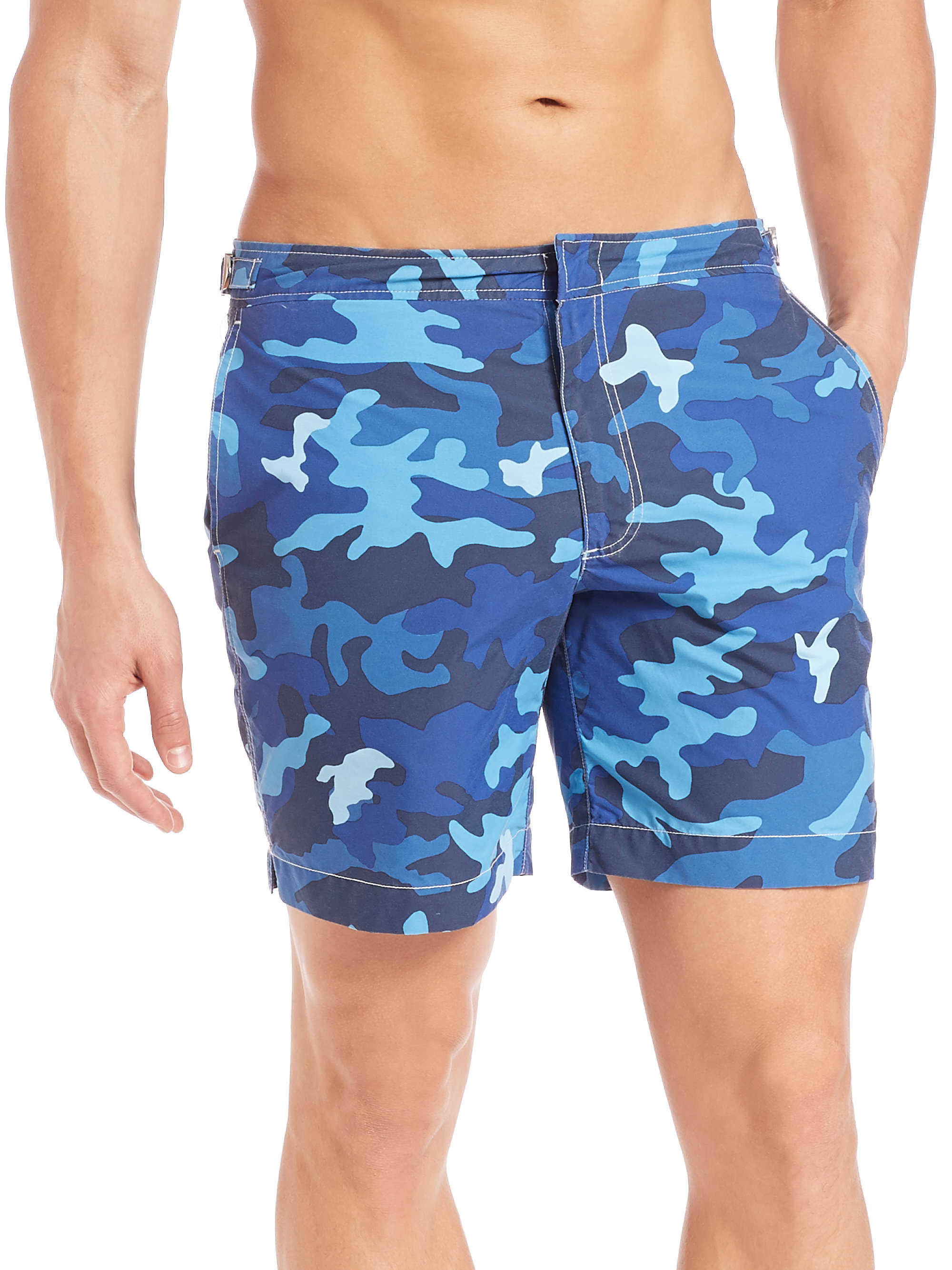 5d3e1a32b5 Polo Ralph Lauren Camo Monaco Swim Trunks in Blue for Men - Lyst