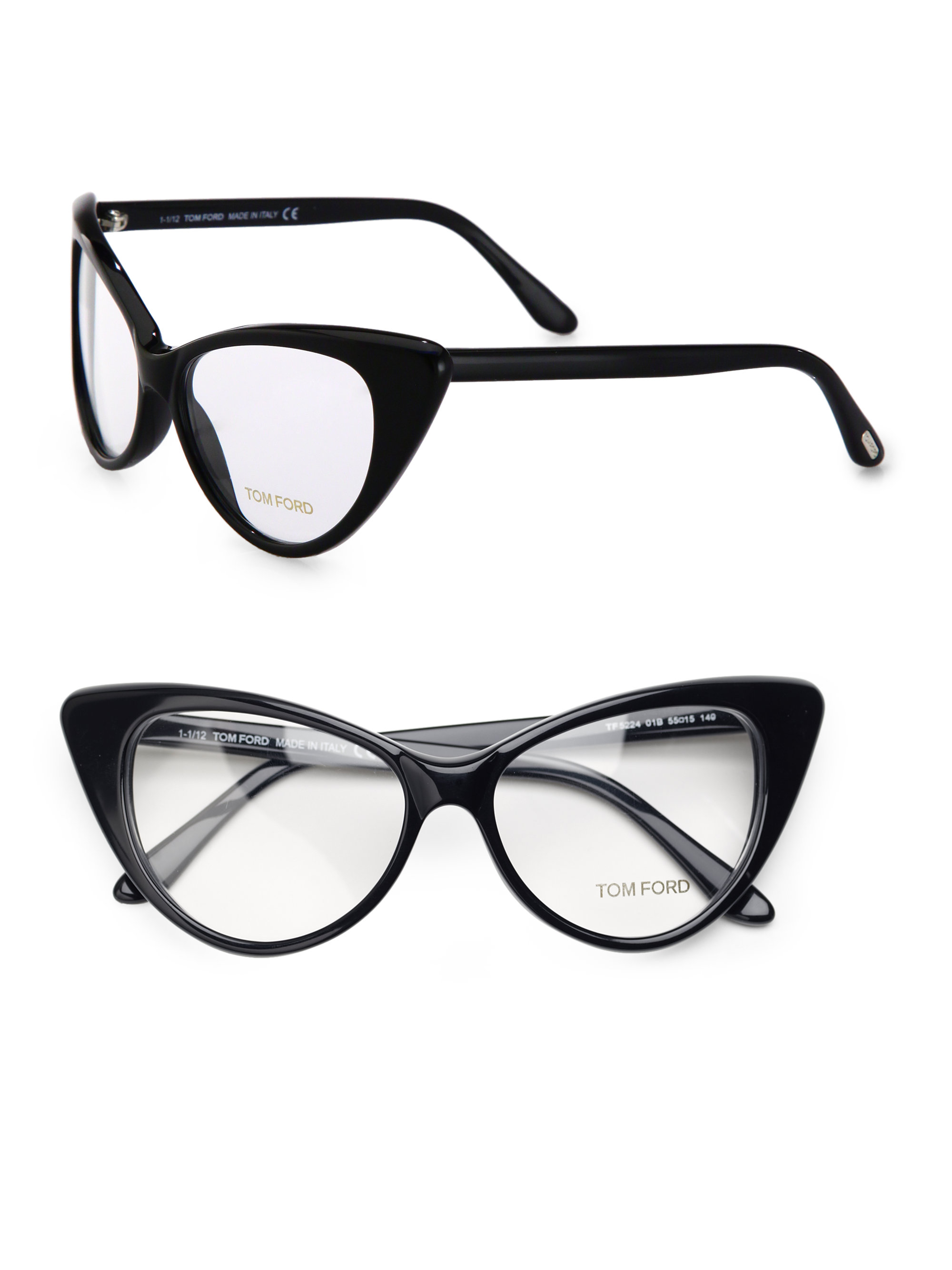 tom ford catseye plastic eyeglasses in black lyst
