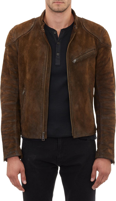 Suede Jacket Outfits For Men 20 Ways To Wear A Suede Jacket: Ralph Lauren Black Label Burnished Suede Cafe Racer