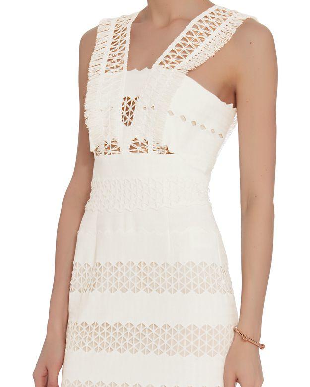 f908fd84579fc Jonathan Simkhai Mechanical Macrame Gown: White in White - Lyst