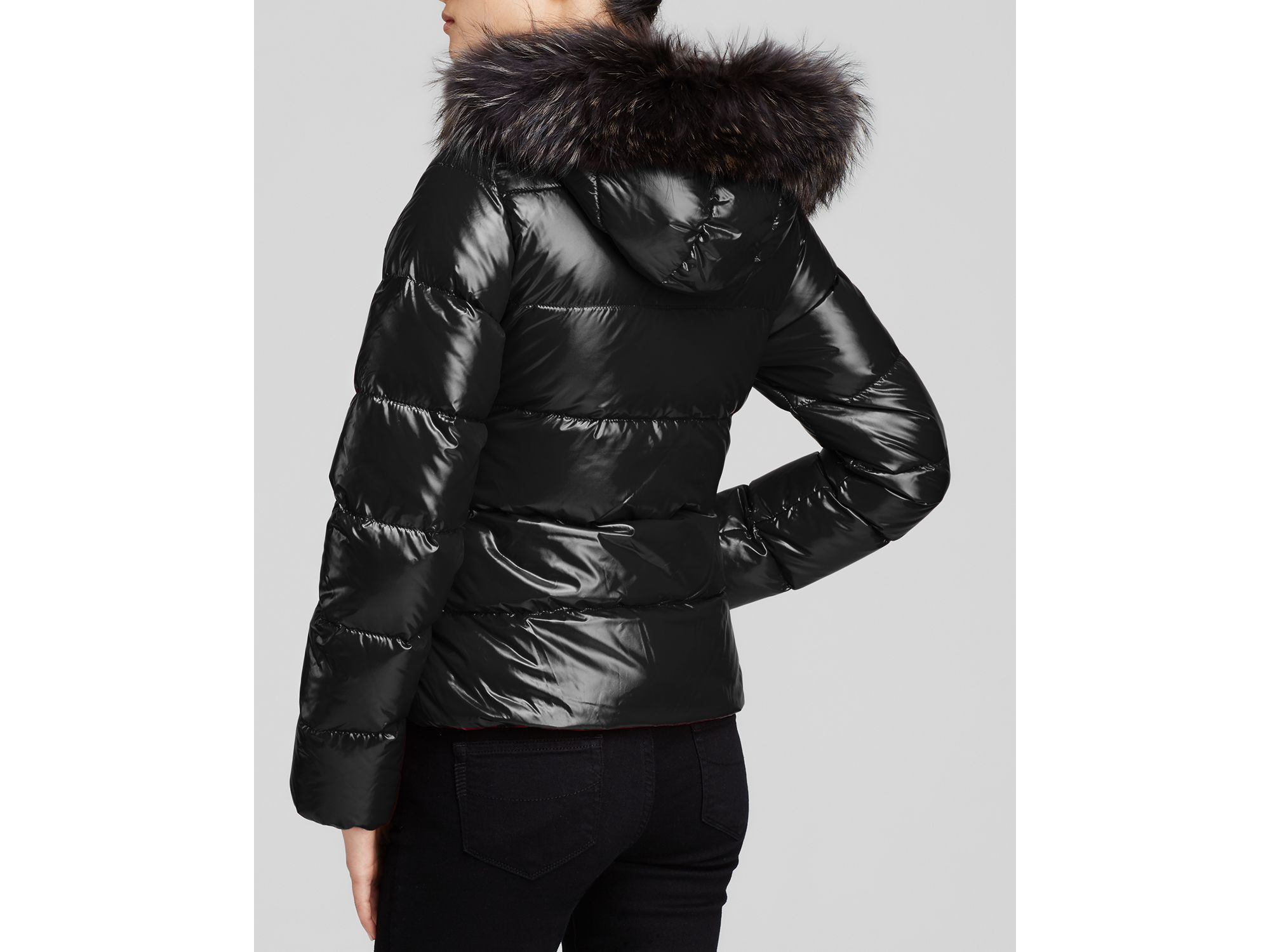 Lyst Duvetica Adhara Down Jacket With Fur Trimmed Hood