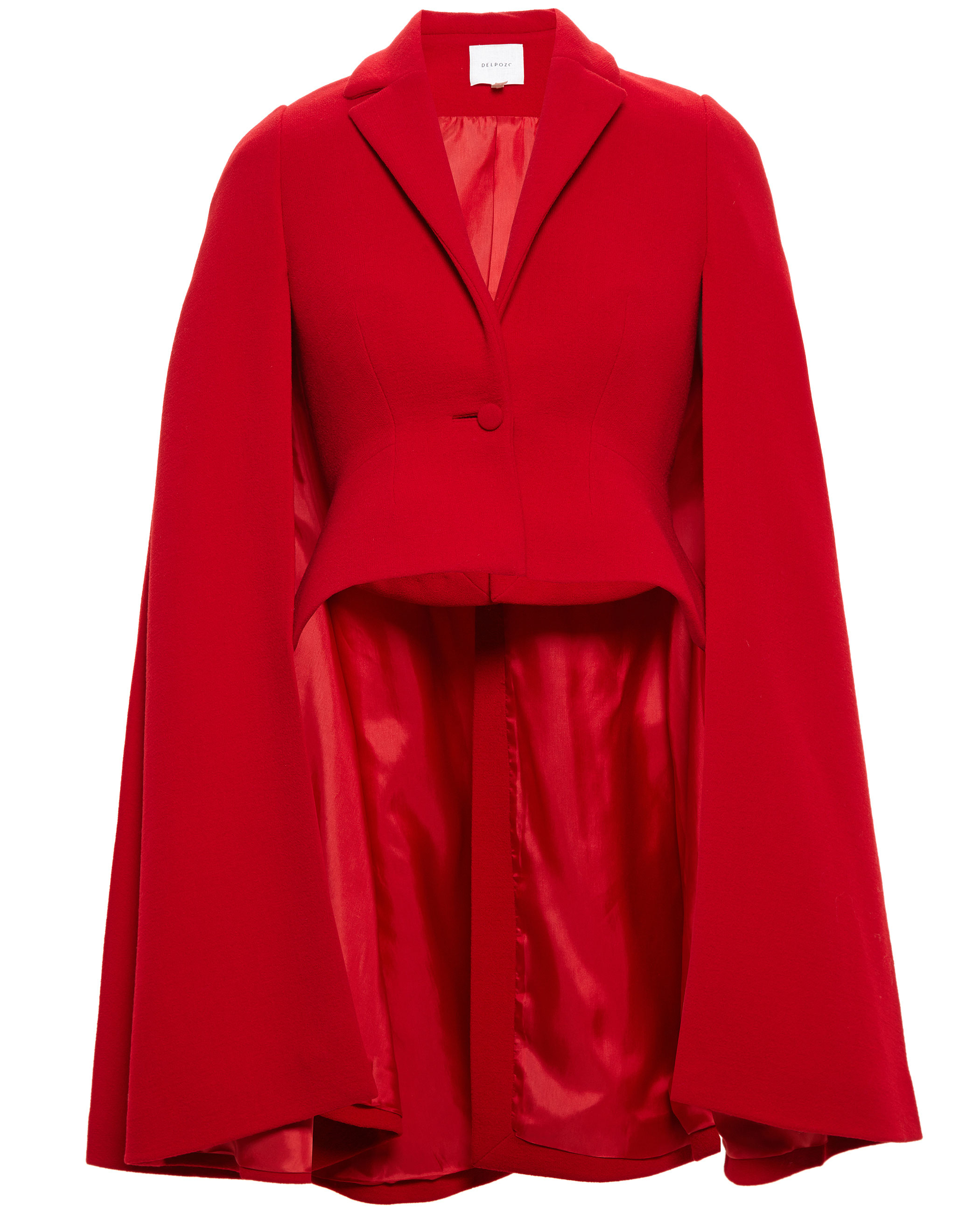 Delpozo Wool Cape Jacket in Red | Lyst