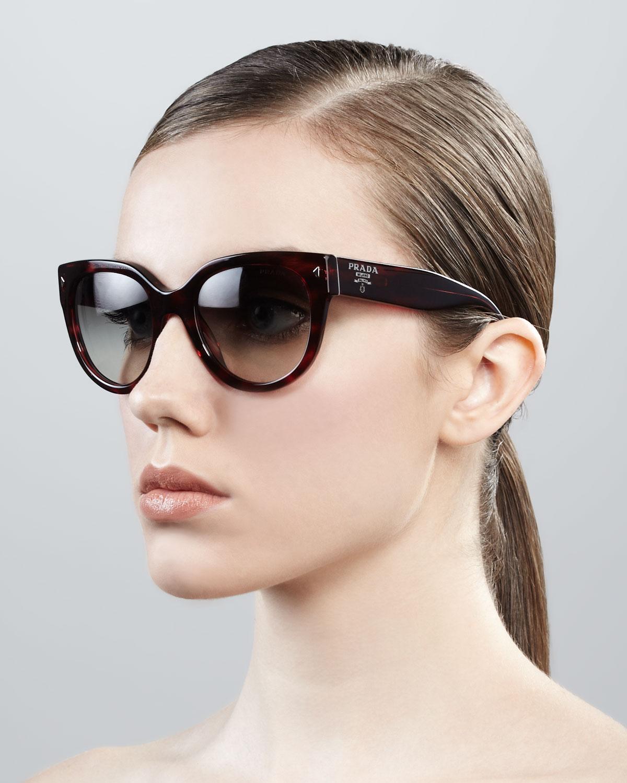 470c6e68b2ac ... cheapest lyst prada cat eye retro rectangle sunglasses 76ae6 6d7d4