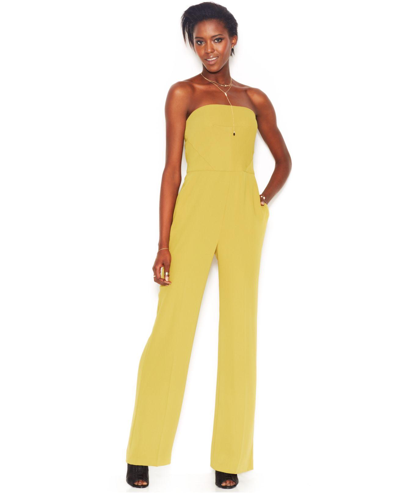 69a7d5a3cf3a Lyst - RACHEL Rachel Roy Sleeveless Wide-Leg Jumpsuit in Yellow