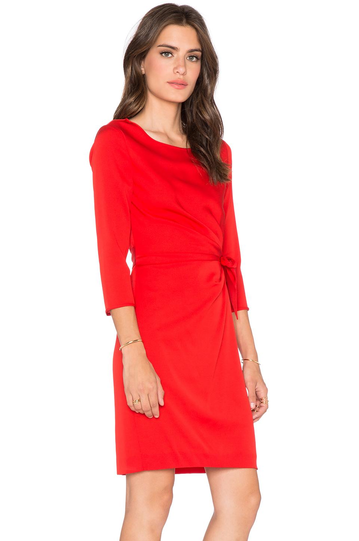 Diane von furstenberg Zoe Dress in Red  Lyst