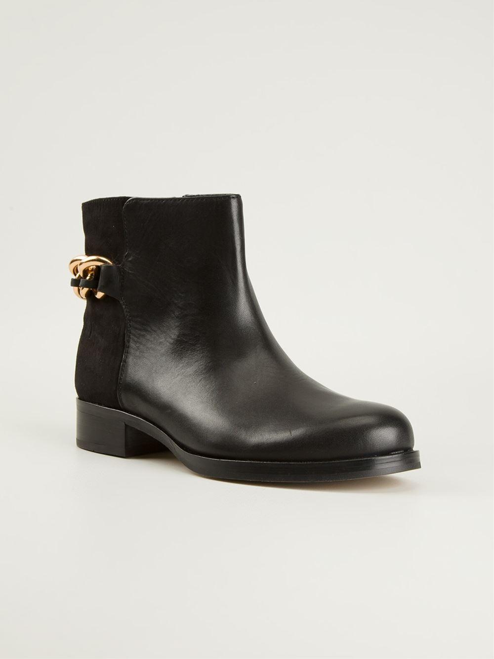eb8fd659ece28c Lyst - Sam Edelman  Chester  Chain Ankle Boot in Black