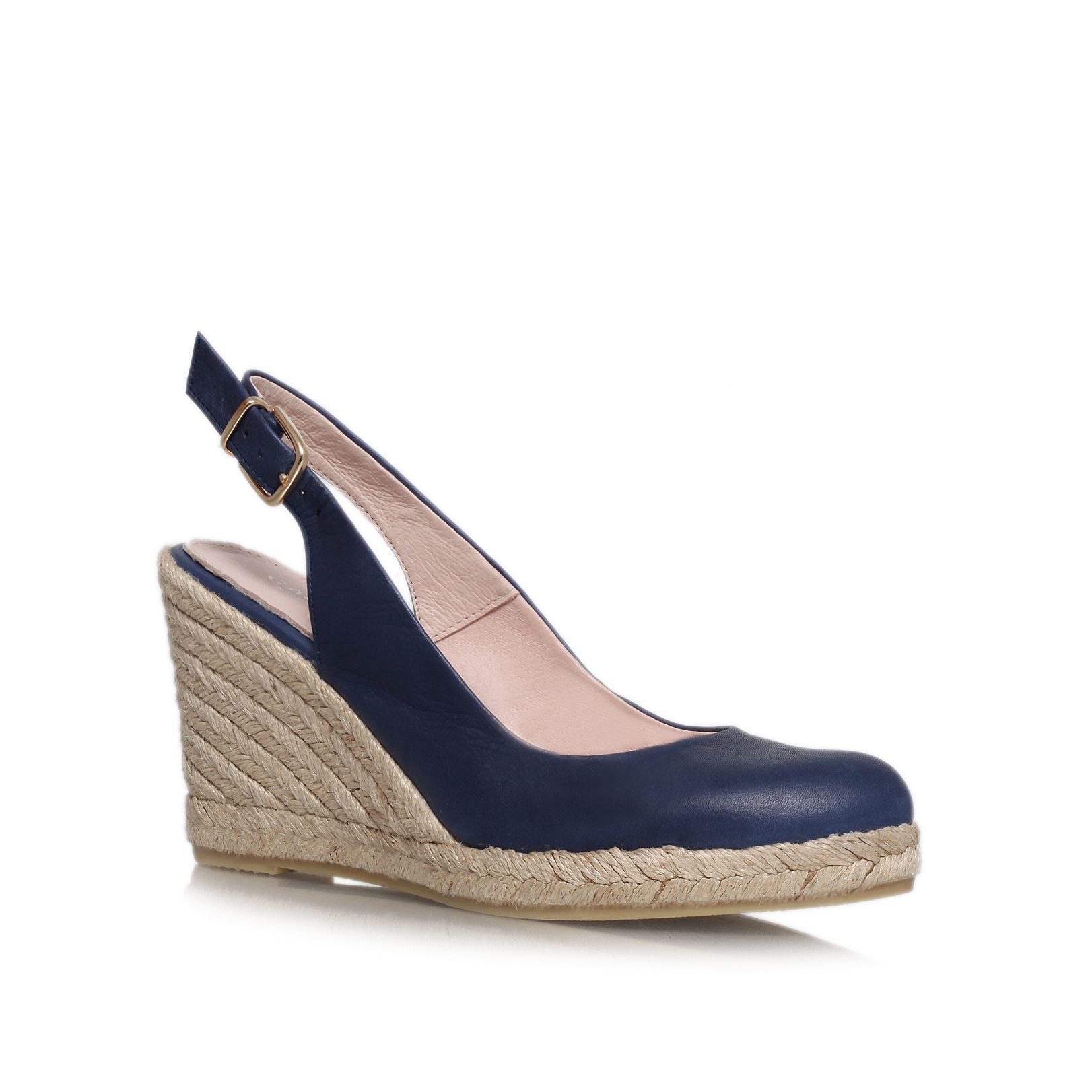 carvela kurt geiger high heel wedge sandals in blue