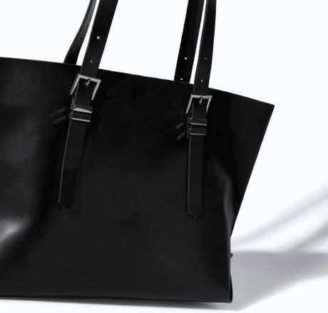 Zara Shopper Bag Black Zara Shopper Bag With