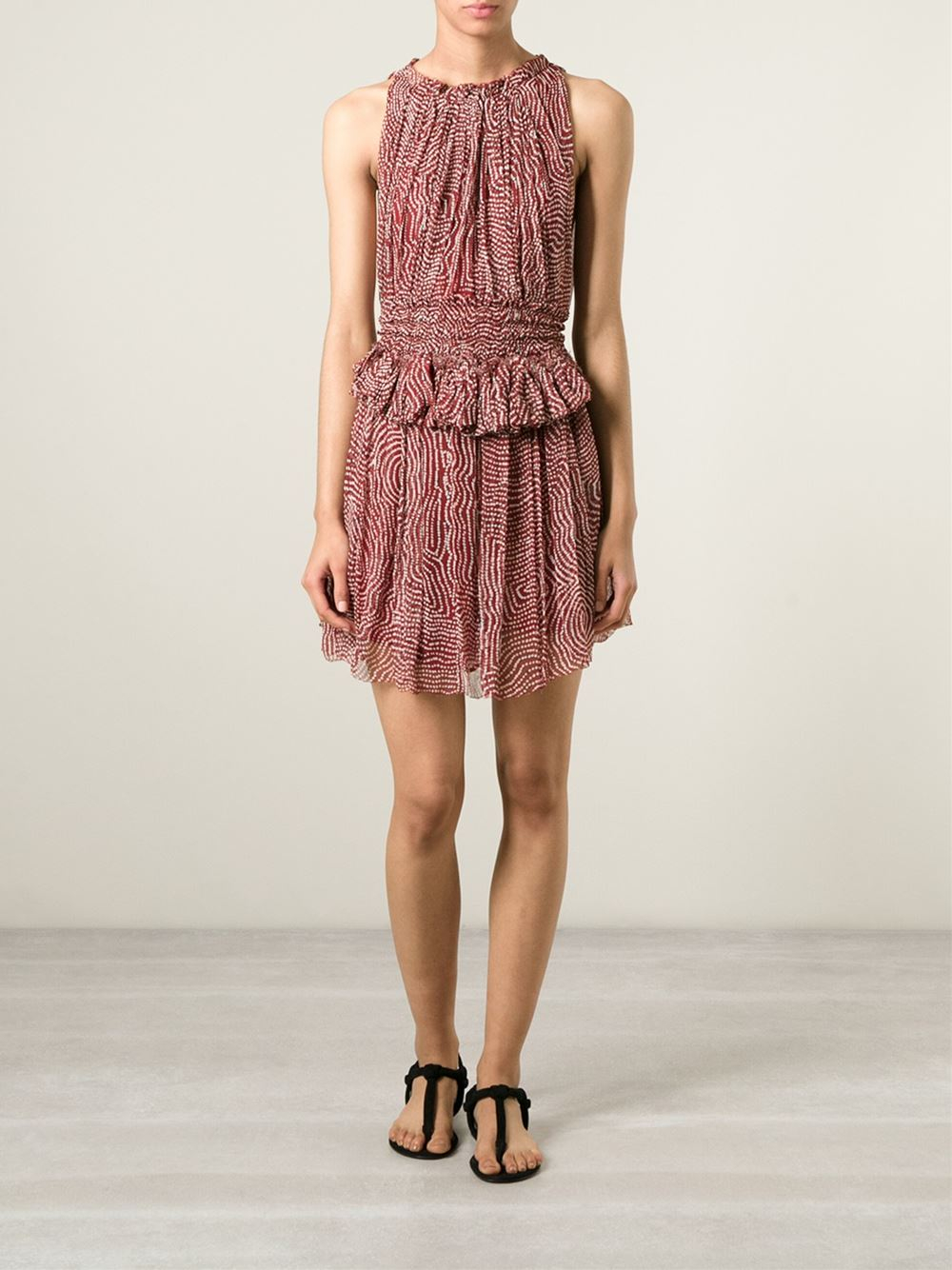 Lyst Isabel Marant Mila Silk Dress In Red