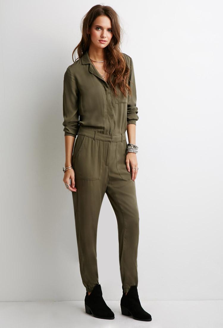 Womens Green Long Sleeve Shirt