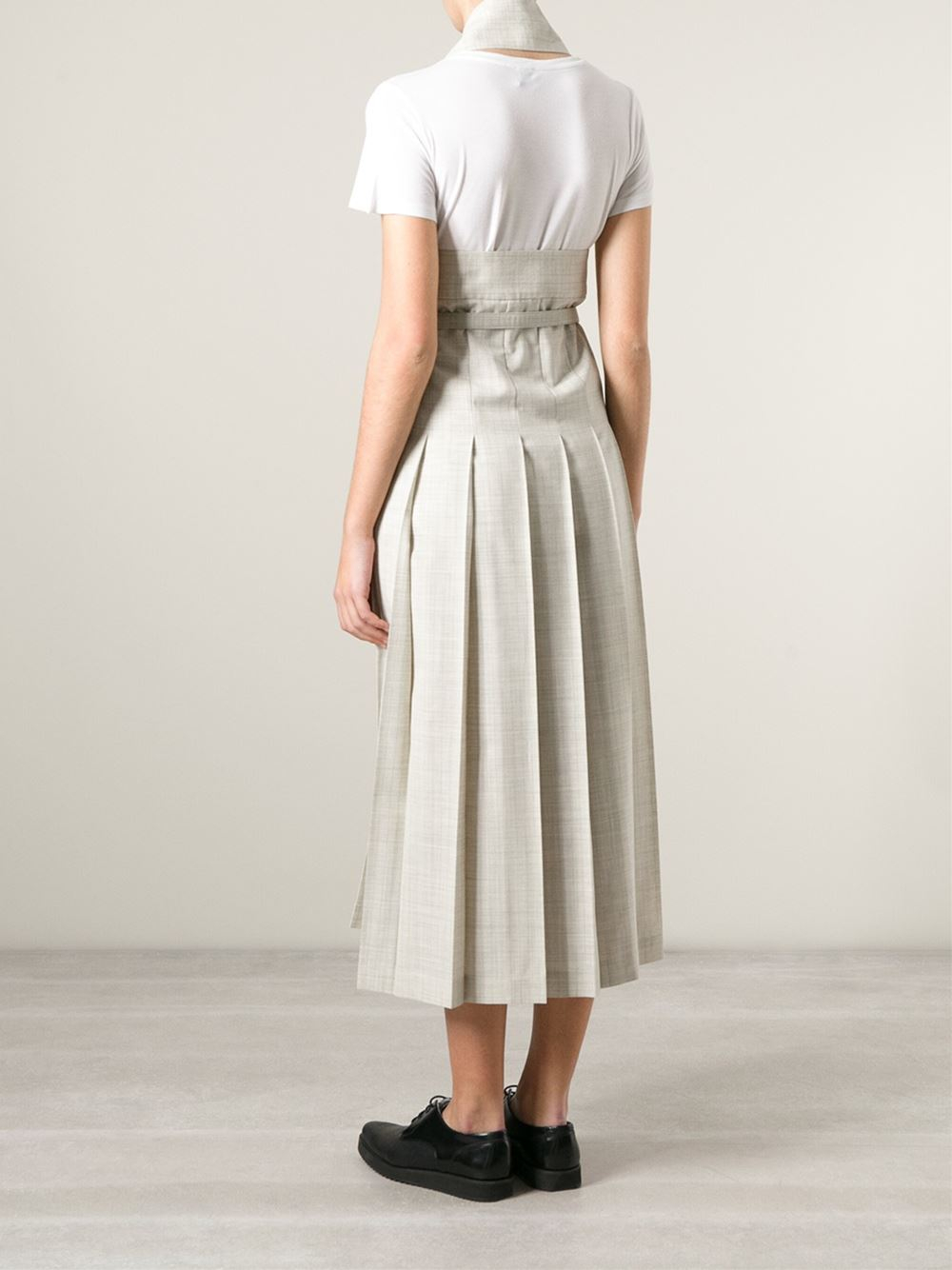 Comme des gar ons 39 robe de chambre 39 skirt in natural lyst for Robe de chambre seculo xix