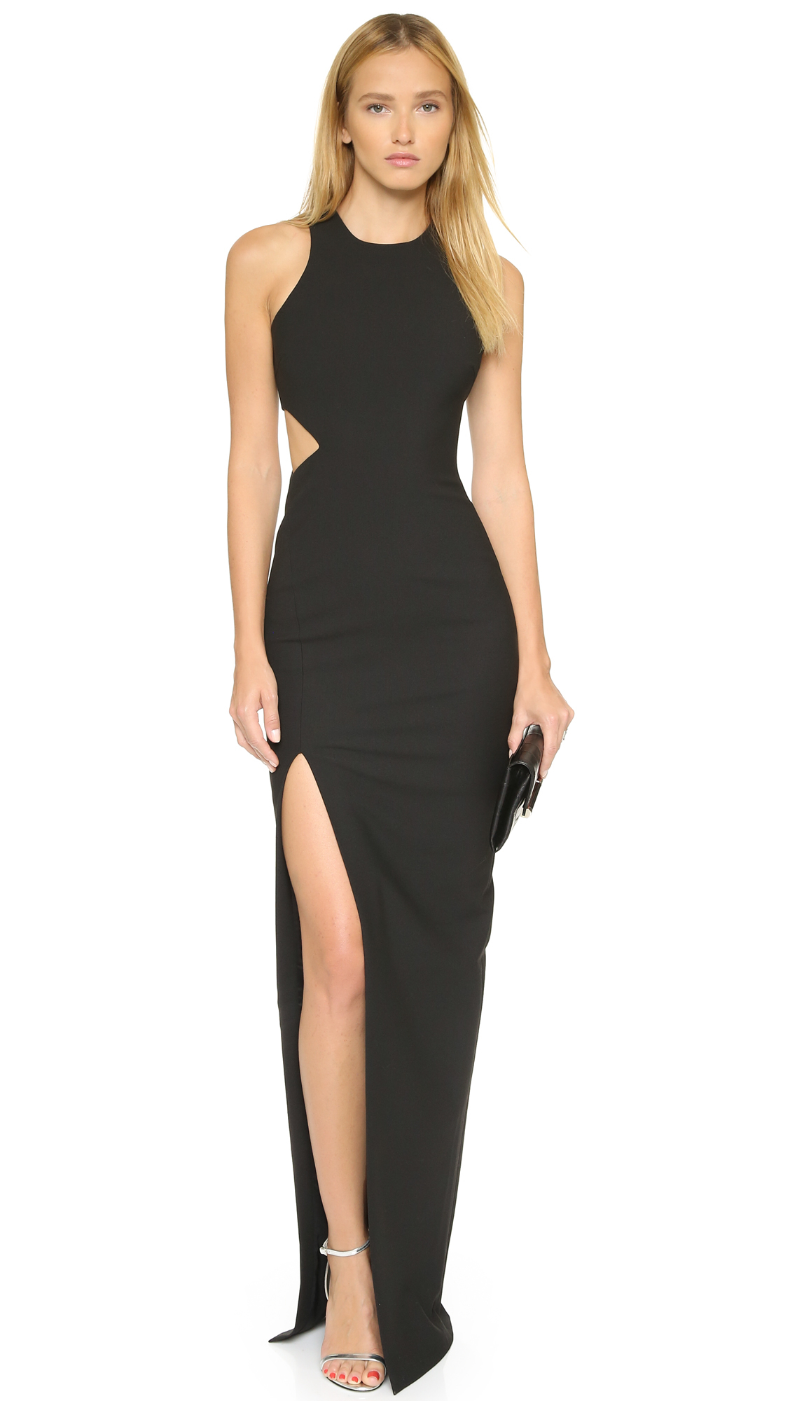 Lyst - Elizabeth And James Long Guilia Dress - Black in Black