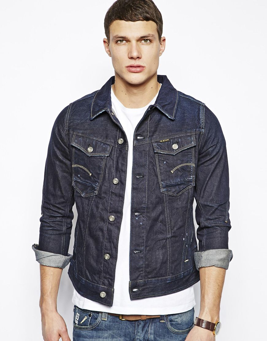 G-star raw Denim Jacket Dark Aged in Blue for Men | Lyst