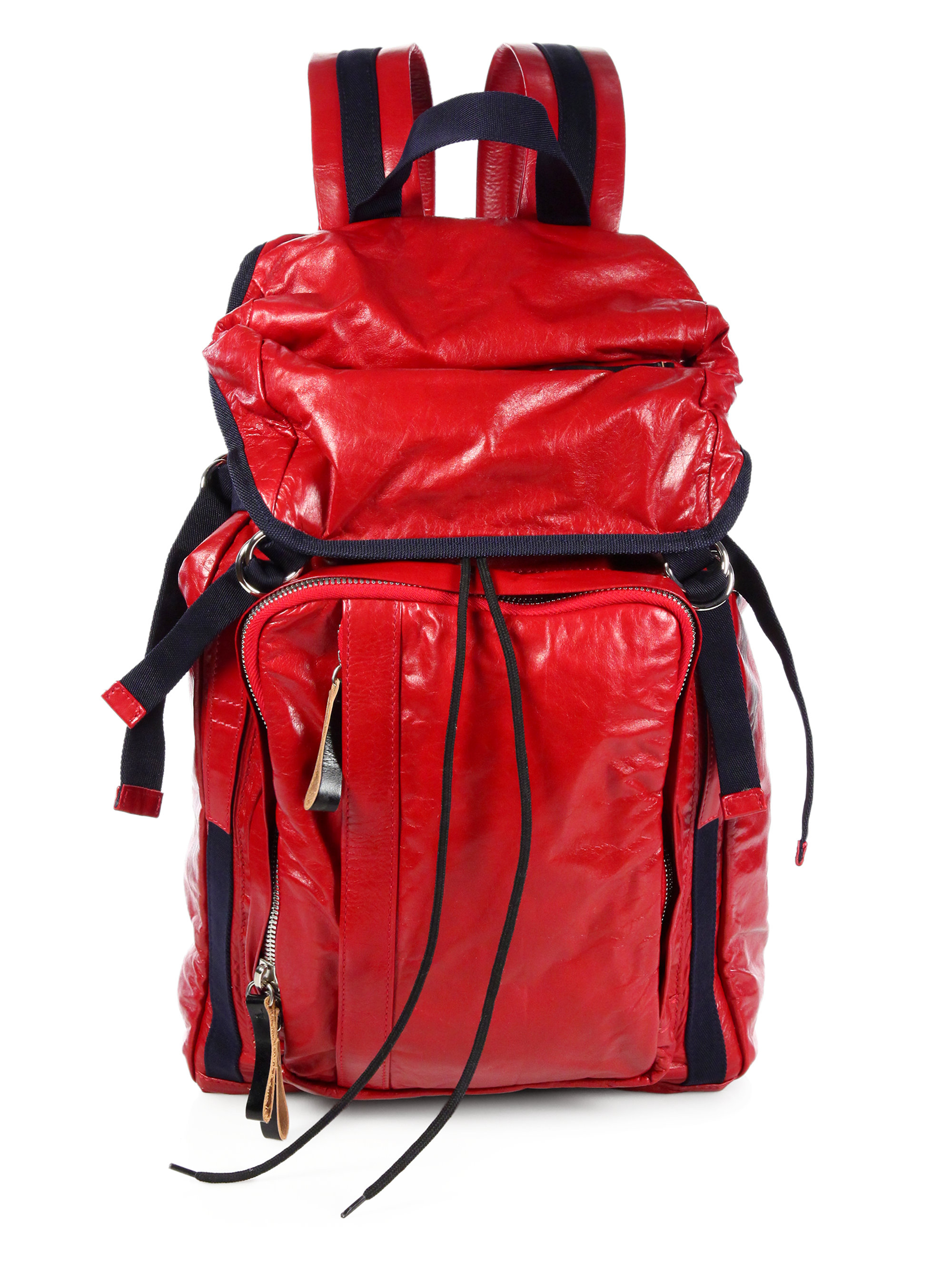 8d48c539e0 Lyst - Marni Leather Backpack in Red for Men