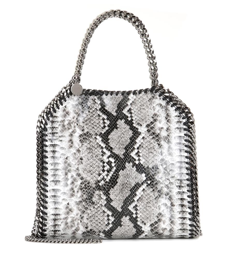 Lyst - Stella Mccartney Falabella Mini Mock Python Shoulder Bag in Gray ec363bb801702