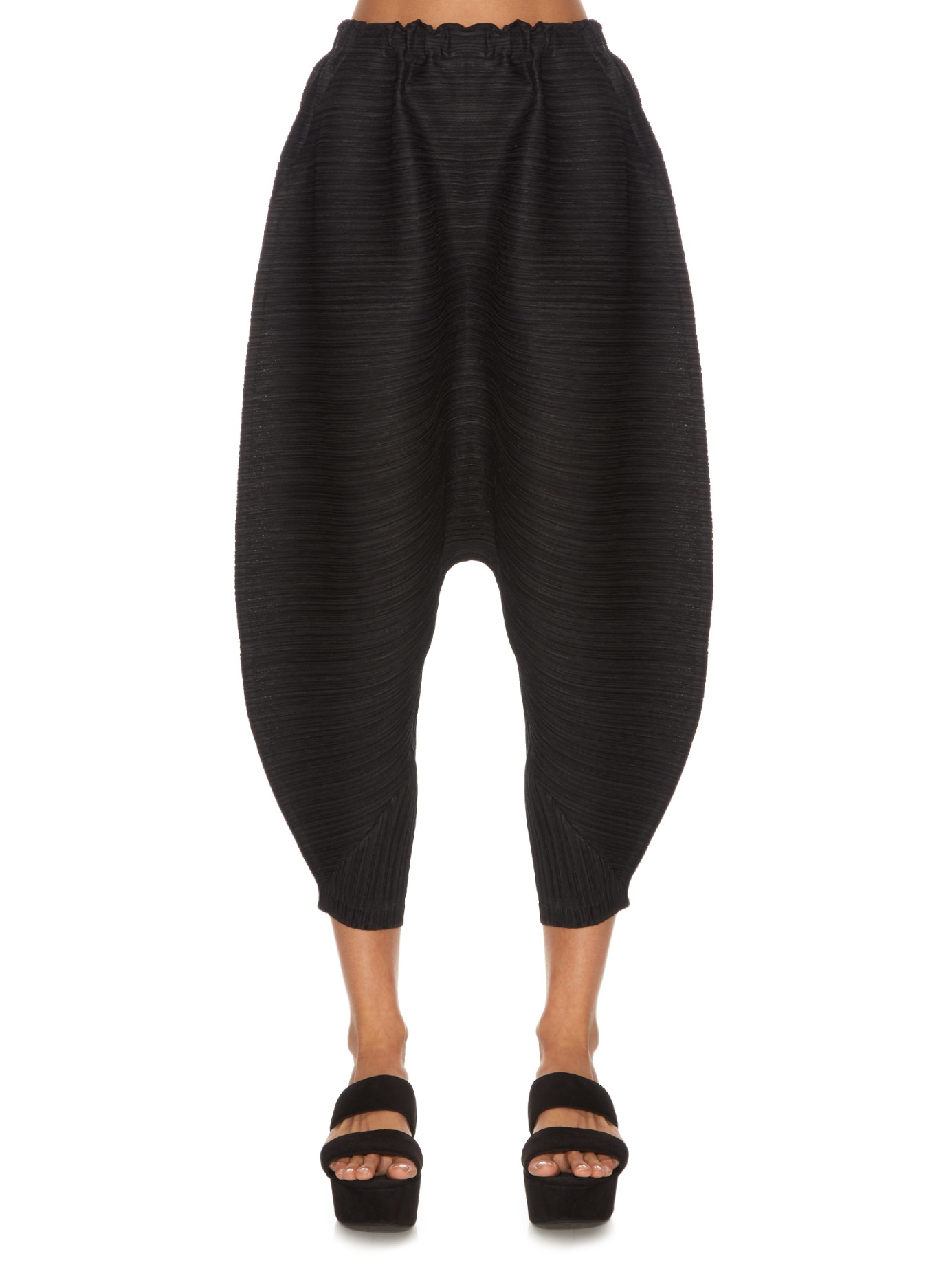 Lyst - Pleats Please Issey Miyake Bounce Pleated Cropped . 38846a1d131dc