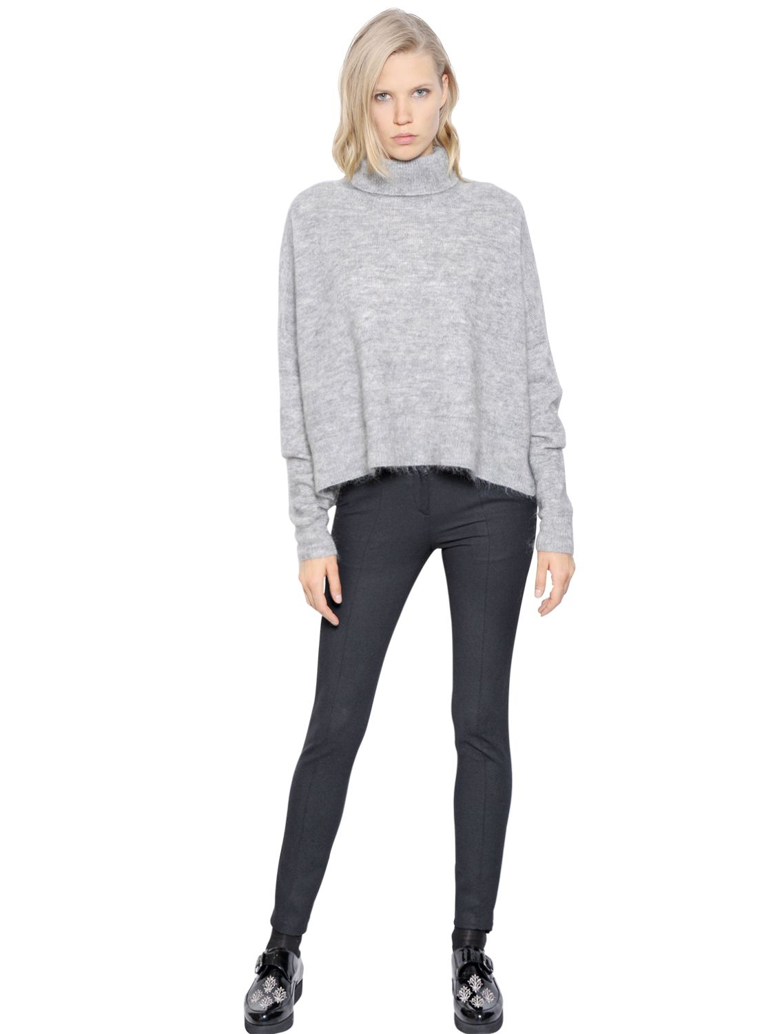 Designers remix Fino Mohair Wool Turtleneck Sweater in Gray | Lyst