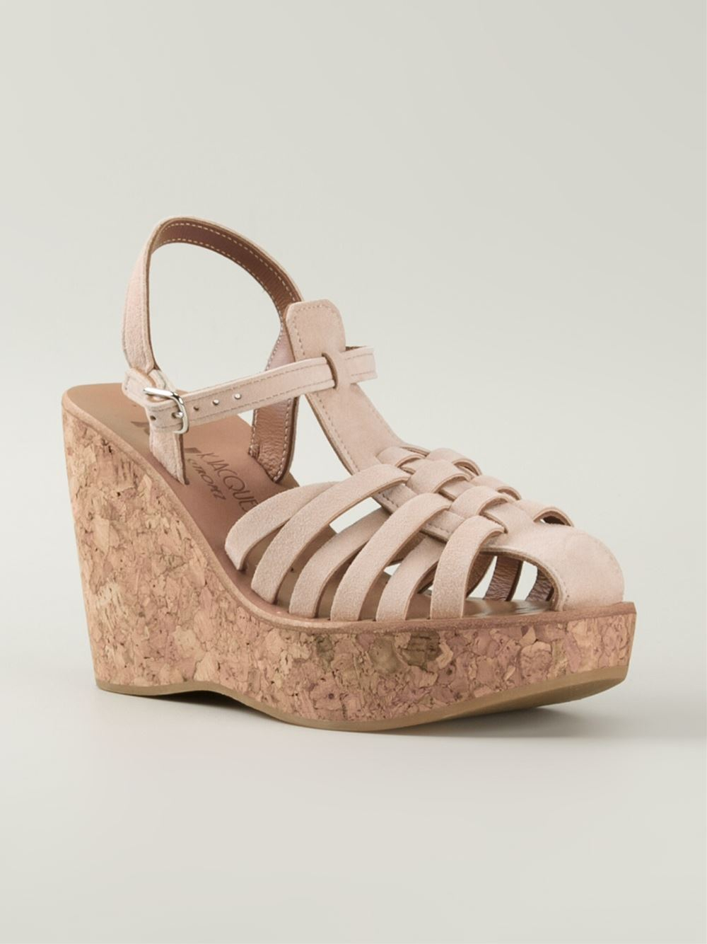 k jacques wedge sandals in beige neutrals lyst