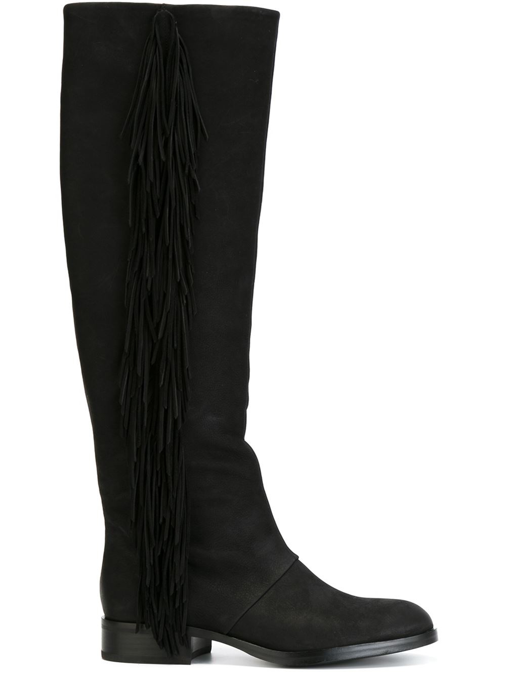 a7e9b5a152ffd Lyst - Sam Edelman Josephine Leather Knee-High Boots in Black