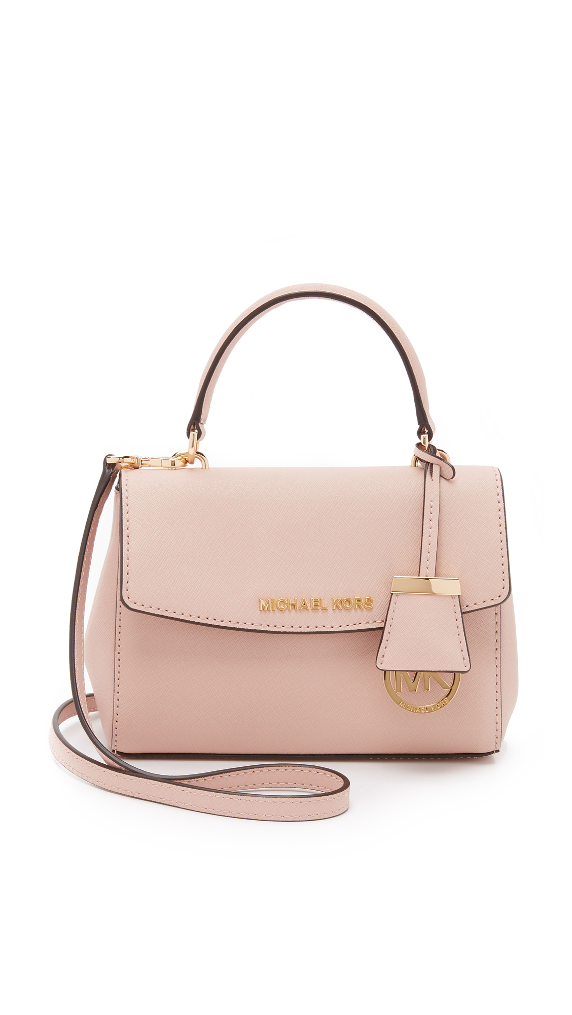 aed60cfaad85 Lyst - MICHAEL Michael Kors Ava Extra Small Cross Body Bag - Ballet ...