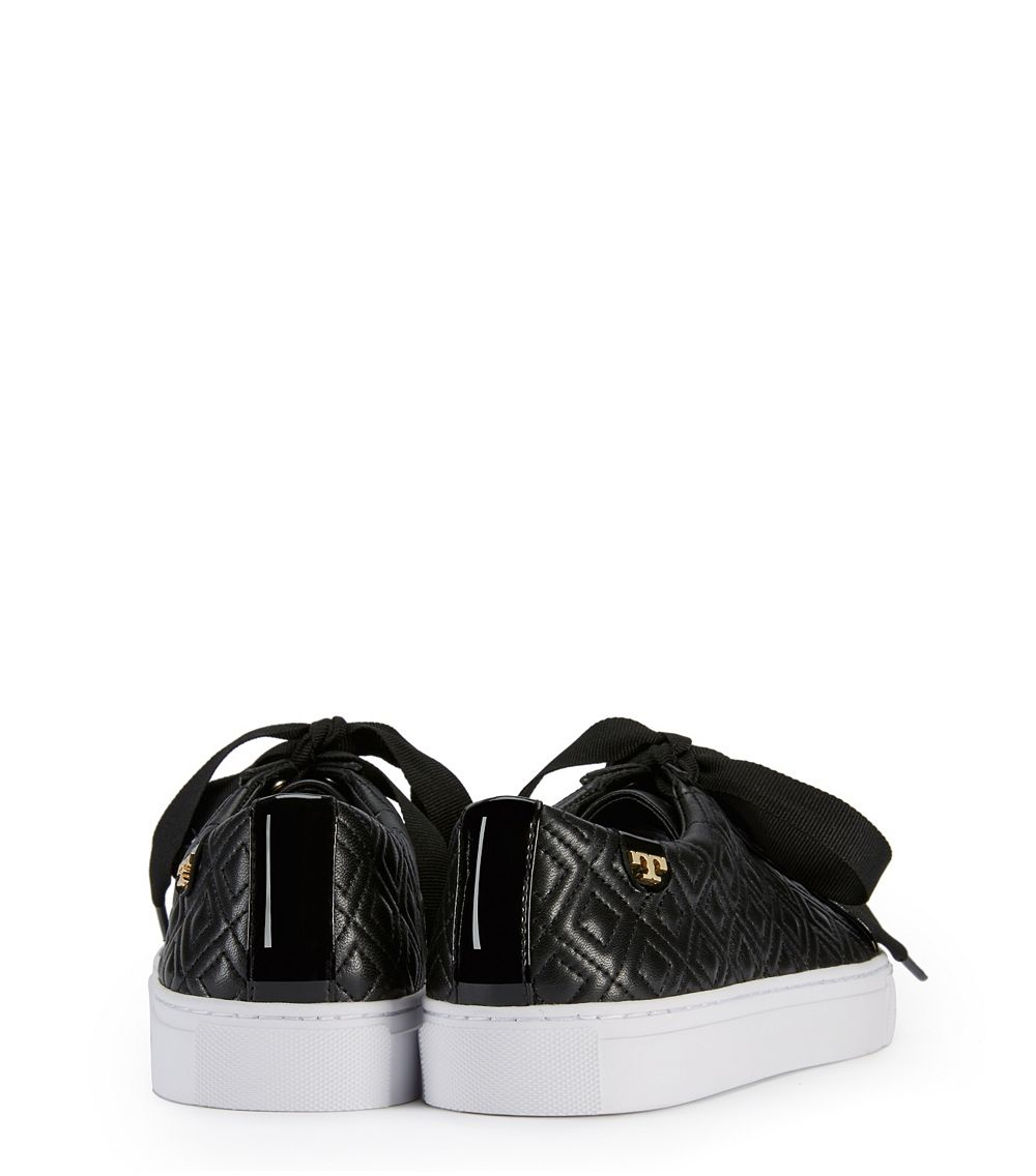 0a0f1e86b615 Tory Burch Marion Quilted Sneaker in Black - Lyst