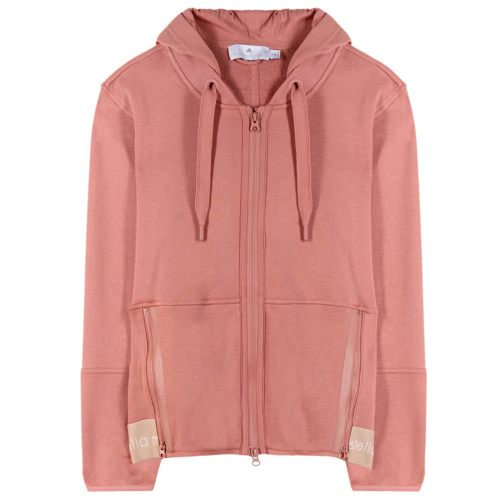 59c238aa5a4d0 adidas By Stella McCartney Ess Cotton-blend Hoodie in Pink - Lyst