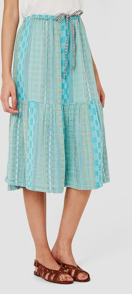 ace jig tiered skirt isle blue in blue
