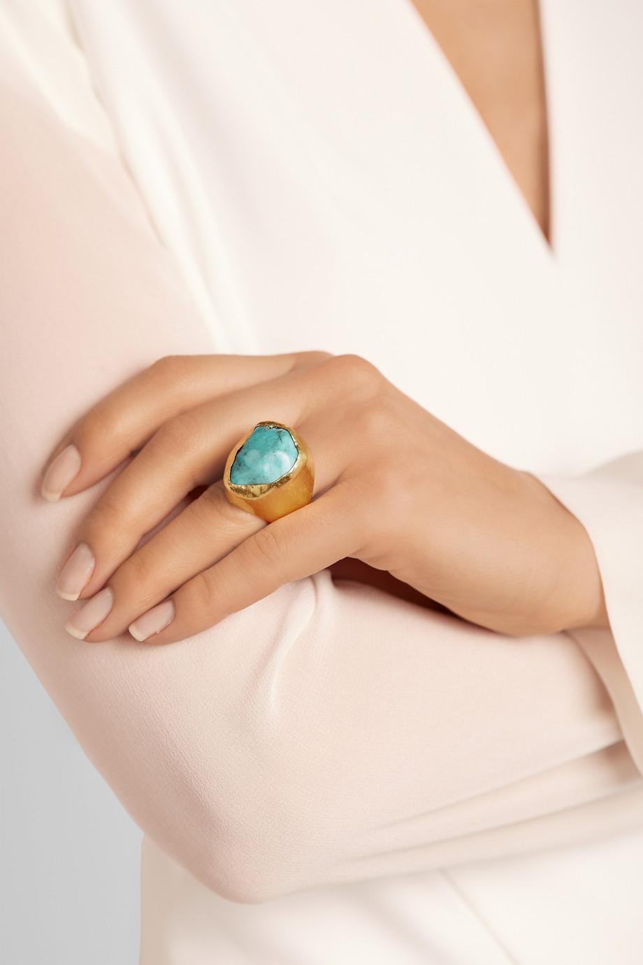 Pippa Small 18-karat Gold Turquoise Ring xTZnuDDiVg