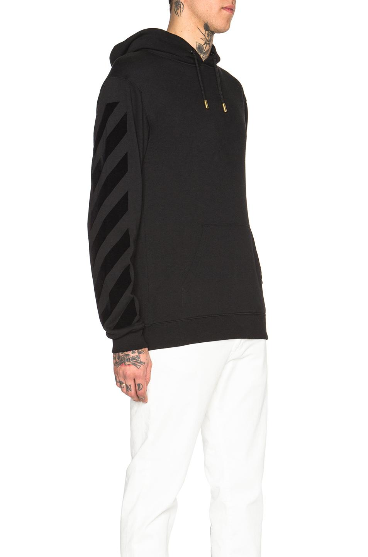 off white c o virgil abloh tone on tone hooded sweatshirt. Black Bedroom Furniture Sets. Home Design Ideas