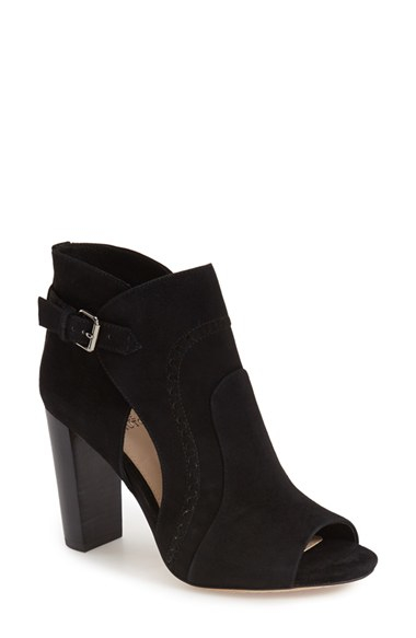 Lyst Vince Camuto Conley Buckle Suede Ankle Boots In Black