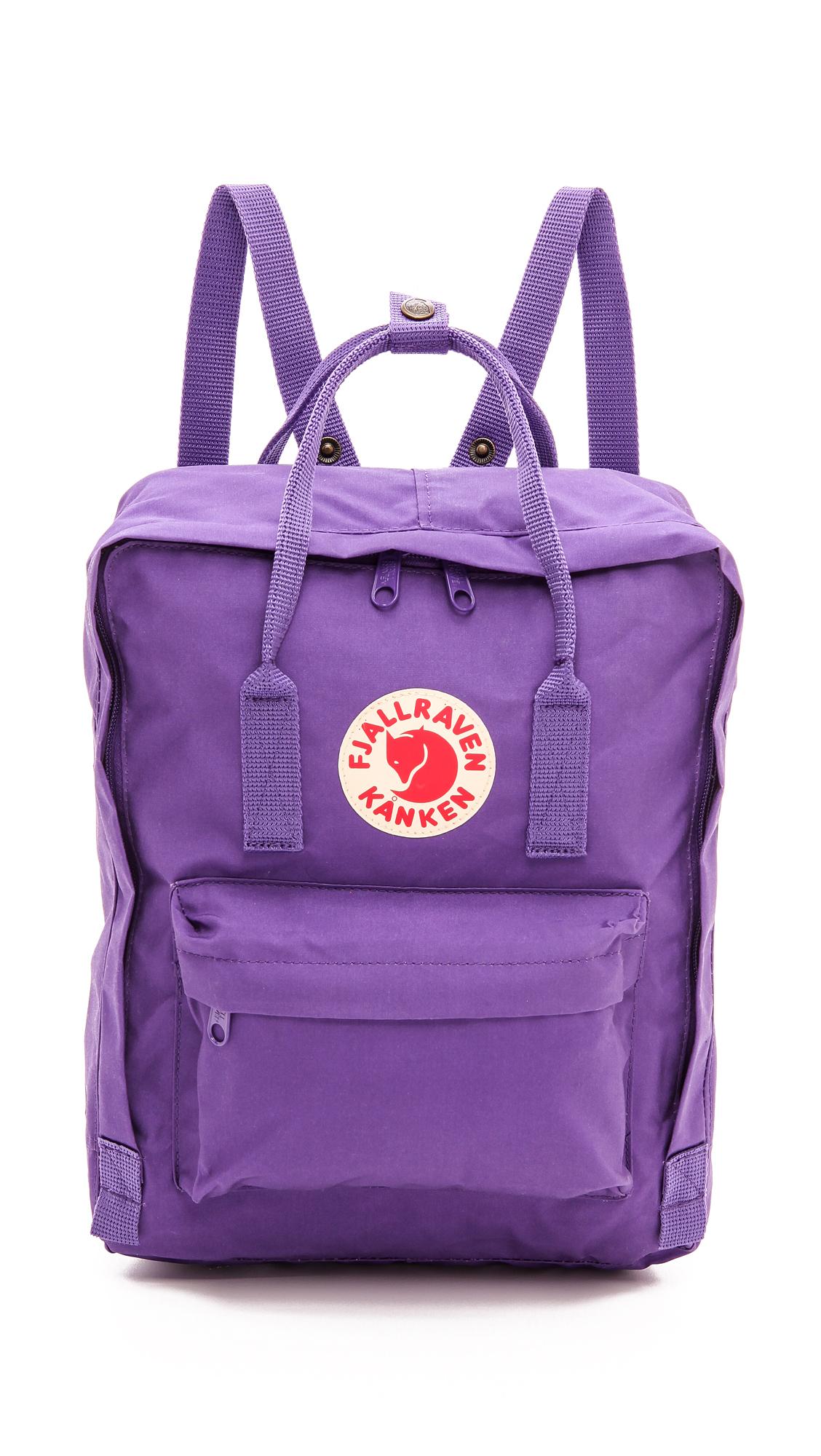 Fjallraven Kanken Backpack - Black Graphite in Purple - Lyst 16eaac1ad0304