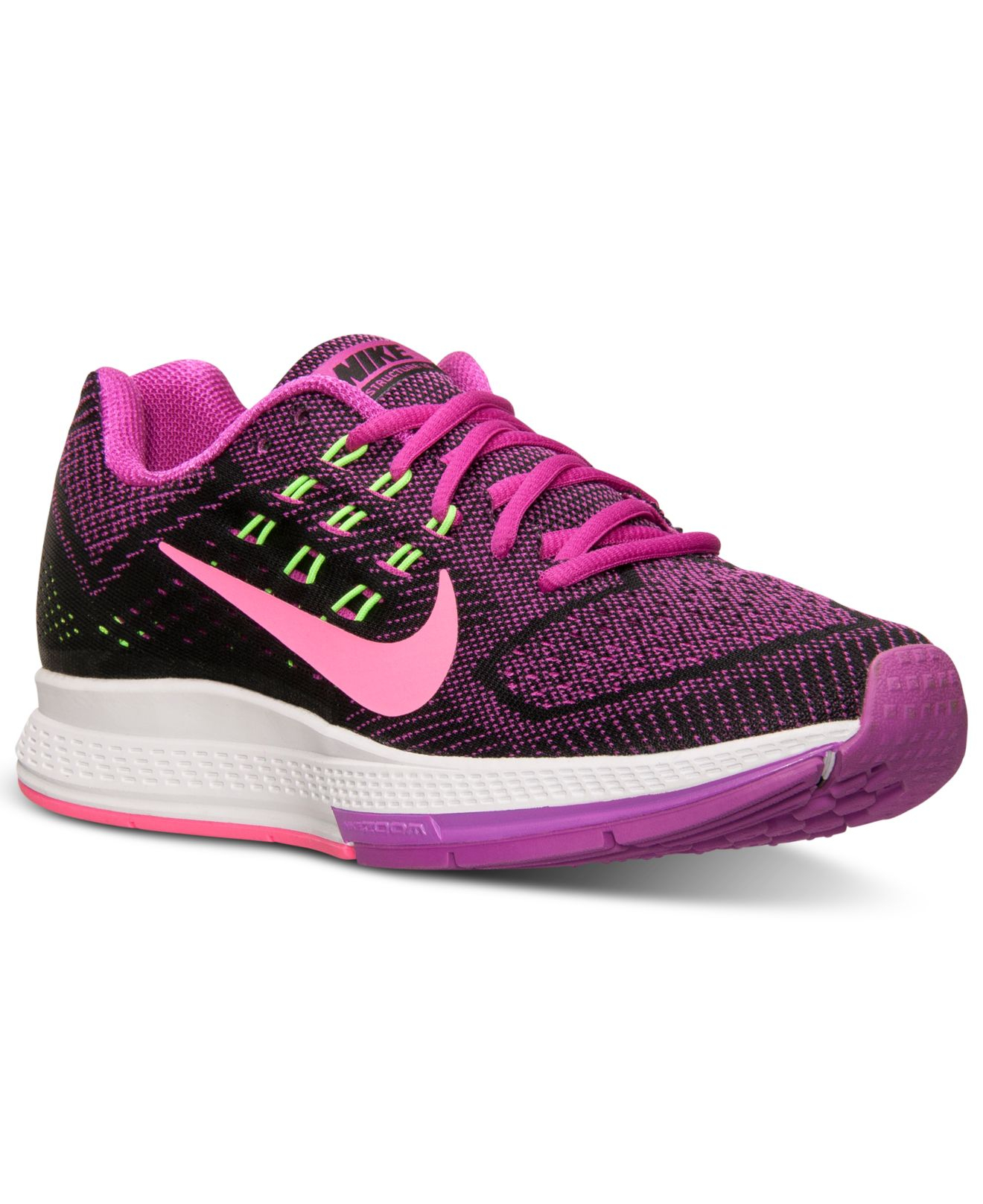 timeless design a0a86 df3f0 nike zoom structure 18 purple black
