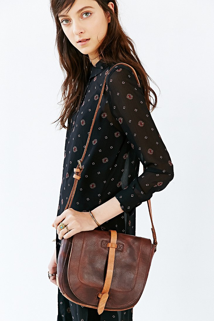 Lyst - Will Leather Goods Crossbody Saddle Bag in Brown 99febb10c